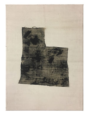 F Acrylic on sewn linen 75 x 45 cm 2018.