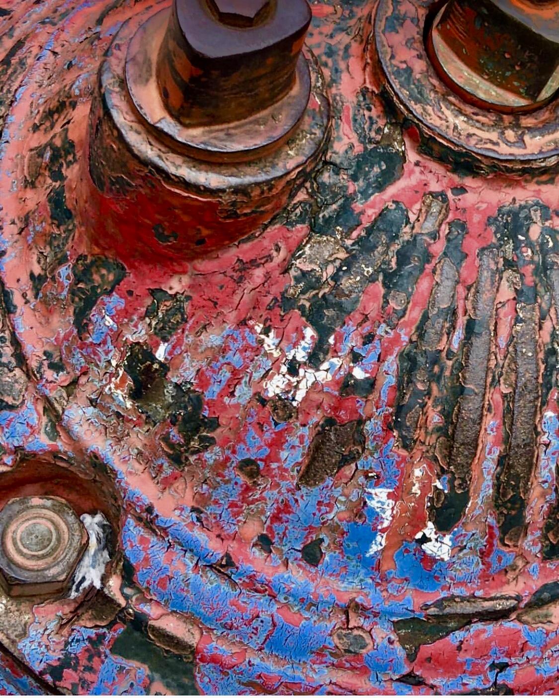 Rust, White & Blue