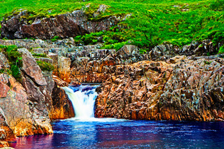 Hiking Scotland - 4K Drone Relaxation Video of  Glen Etive, Scottish Highlands