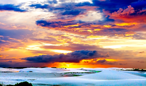Sunset over Jeri Sand Dunes