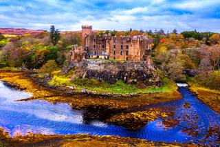 Hiking Scotland - 4K Cinematic Drone Video Dunvegan Castle -Isle of Skye, Scotland