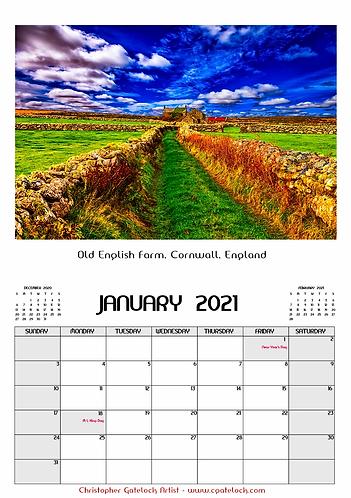 England & Ireland Calendars