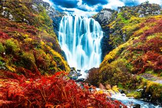 New!!!  Hiking Scotland - Clashnessie Falls, Scotland