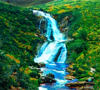 Hiking Scotland -4K Drone Video -  Black Hill Waterfall, Isle of Skye, Scottish Highlands