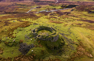 Hiking Scotland - 4K Drone Video of The Broch at Dun Beag, Isle of Skye, Scottish Highlands