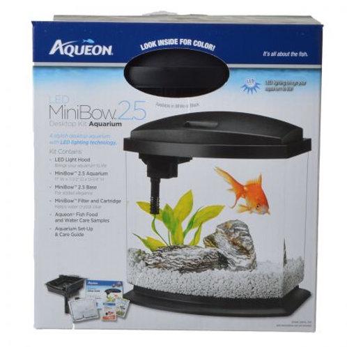 Aqueon LED Mini Bow Desktop Aquarium Kit - Black