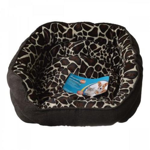 Aspen Pet Oval Pet Bed - Giraffe Print
