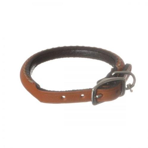 Circle T Leather Round Collar - Tan