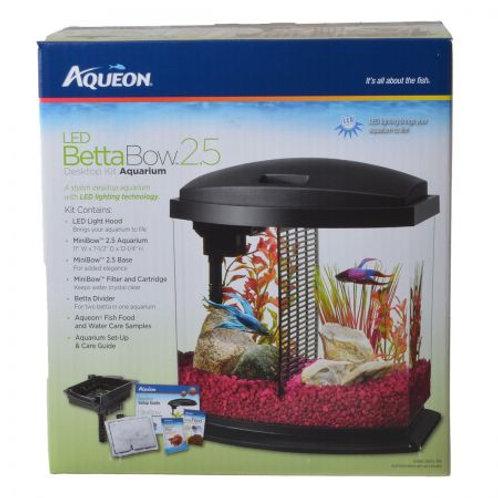 Aqueon LED Betta Bow Desktop Aquarium Kit - Black