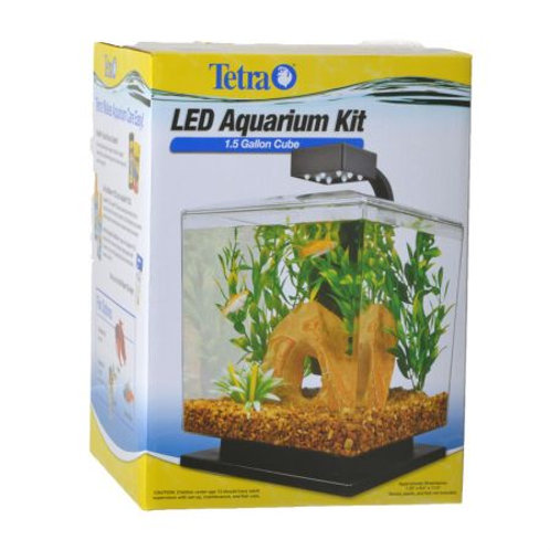 Tetra Cube Aquarium Kit with LED Lighting Free Shipping at $150 Clear, plastic