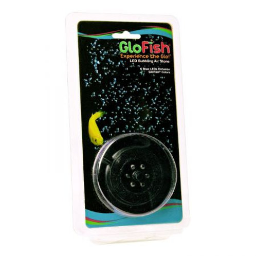 GloFish Round Bubbling Air Stone with 6 LEDs