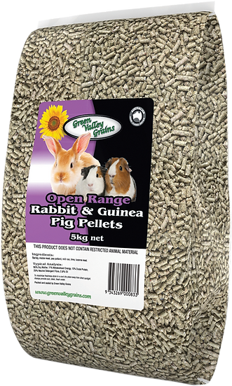 GREEN VALLEY GRAINS RABBIT AND GUINEA PELLETS 5KG