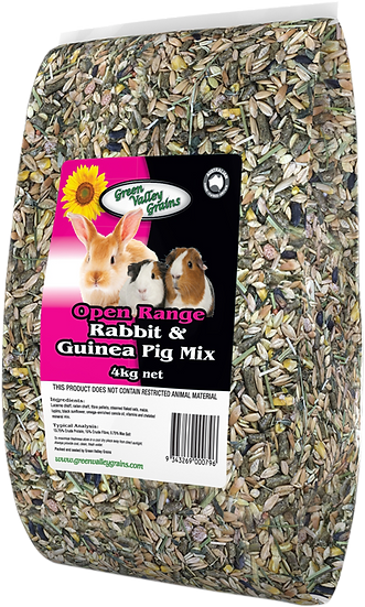 GREEN VALLEY GRAINS RABBIT AND GUINEA MIX 4KG