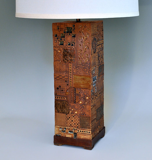 Lamp - Squared Earth           SOLD