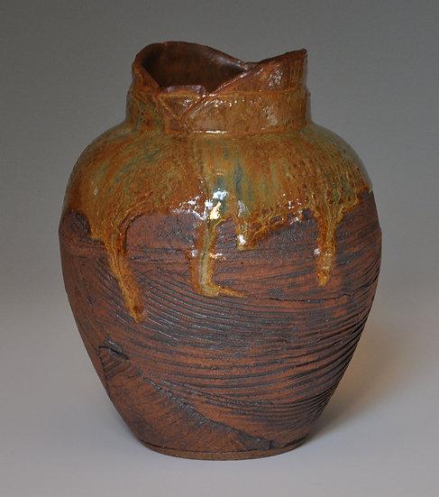 Vase - Golden Textured Slab  SOLD