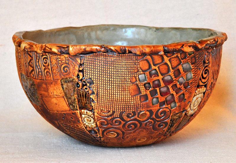 Having Fun bowl - granite - SOLD