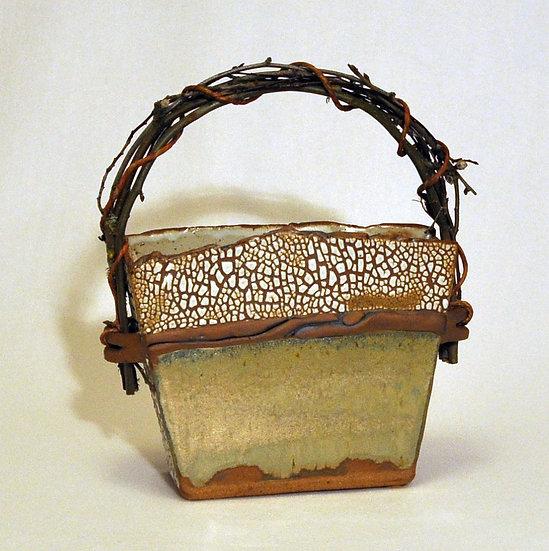 Stoneware Basket - Large   SOLD