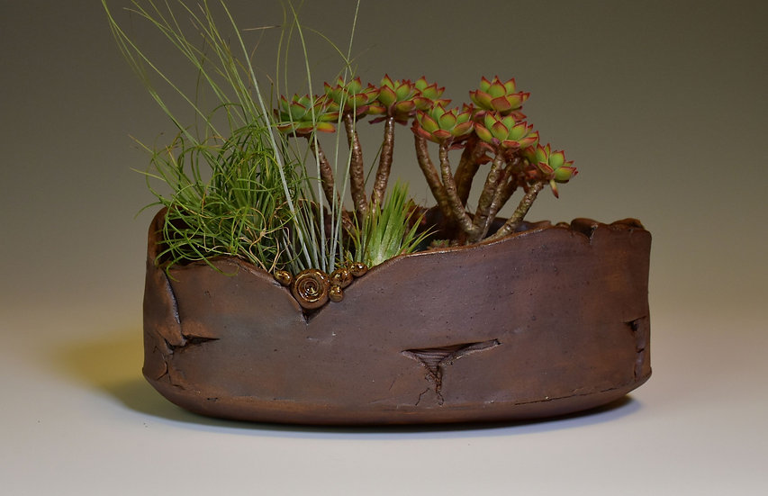 Oval slab planter