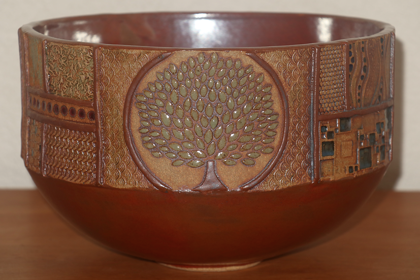 O.E. Bowl - Iron Red with Tree - SOLD