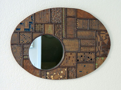 Ordered Earth - oval with mirror