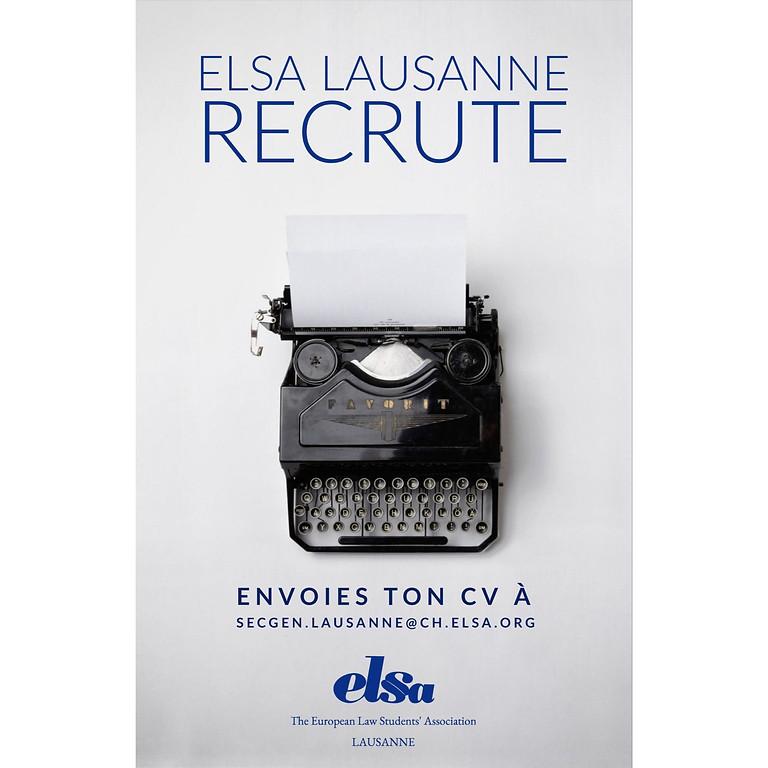 AG ELSA Lausanne & postulation comité 2020/2021