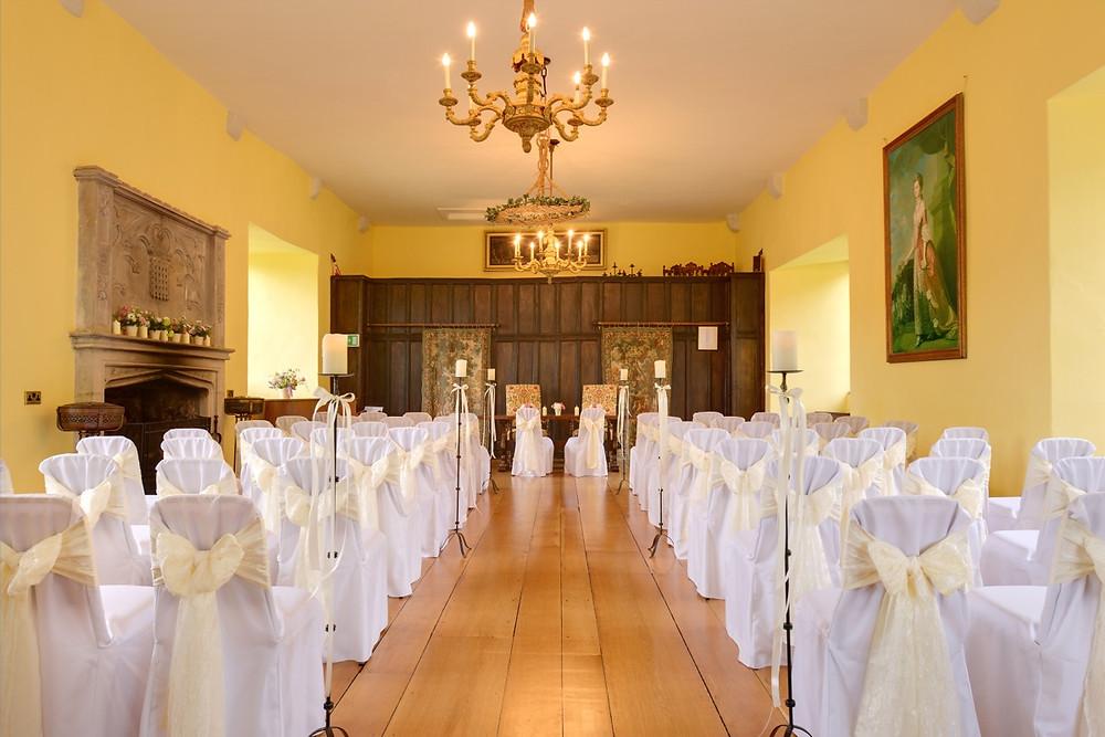 Bickleigh Castle Wedding Devon Great Hall.jpg