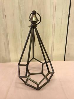 Copper Geometric Lantern