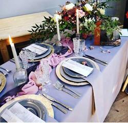 Dove Grey Top Table Cloth