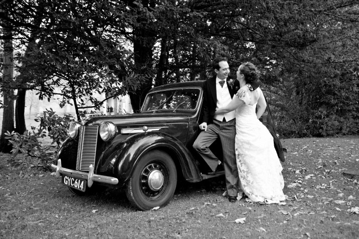 Wedding Photographer Devon wedding car.jpg