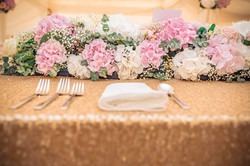 Gold Sequin Top Table