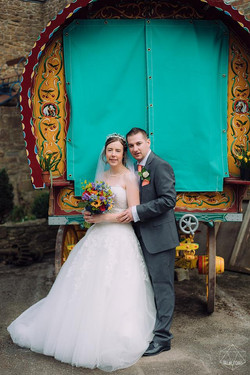 wedding photographers devon gypsy caravan.jpg