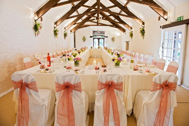 wedding venues devon bickleigh tables.jpg