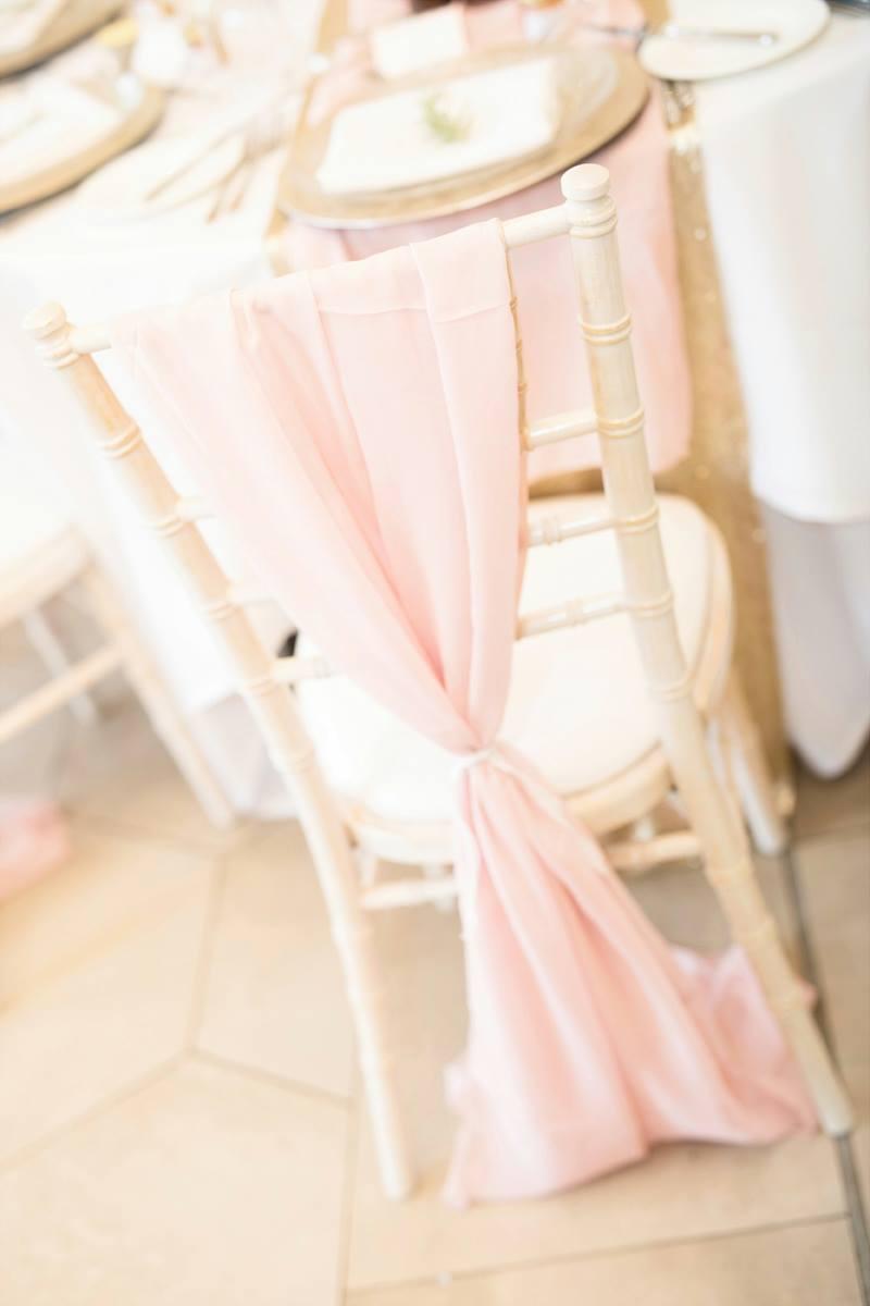 Pale Pink Chiffon Drop