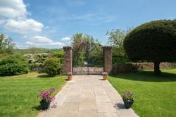 wedding venues devon bickleigh castle gates.jpg