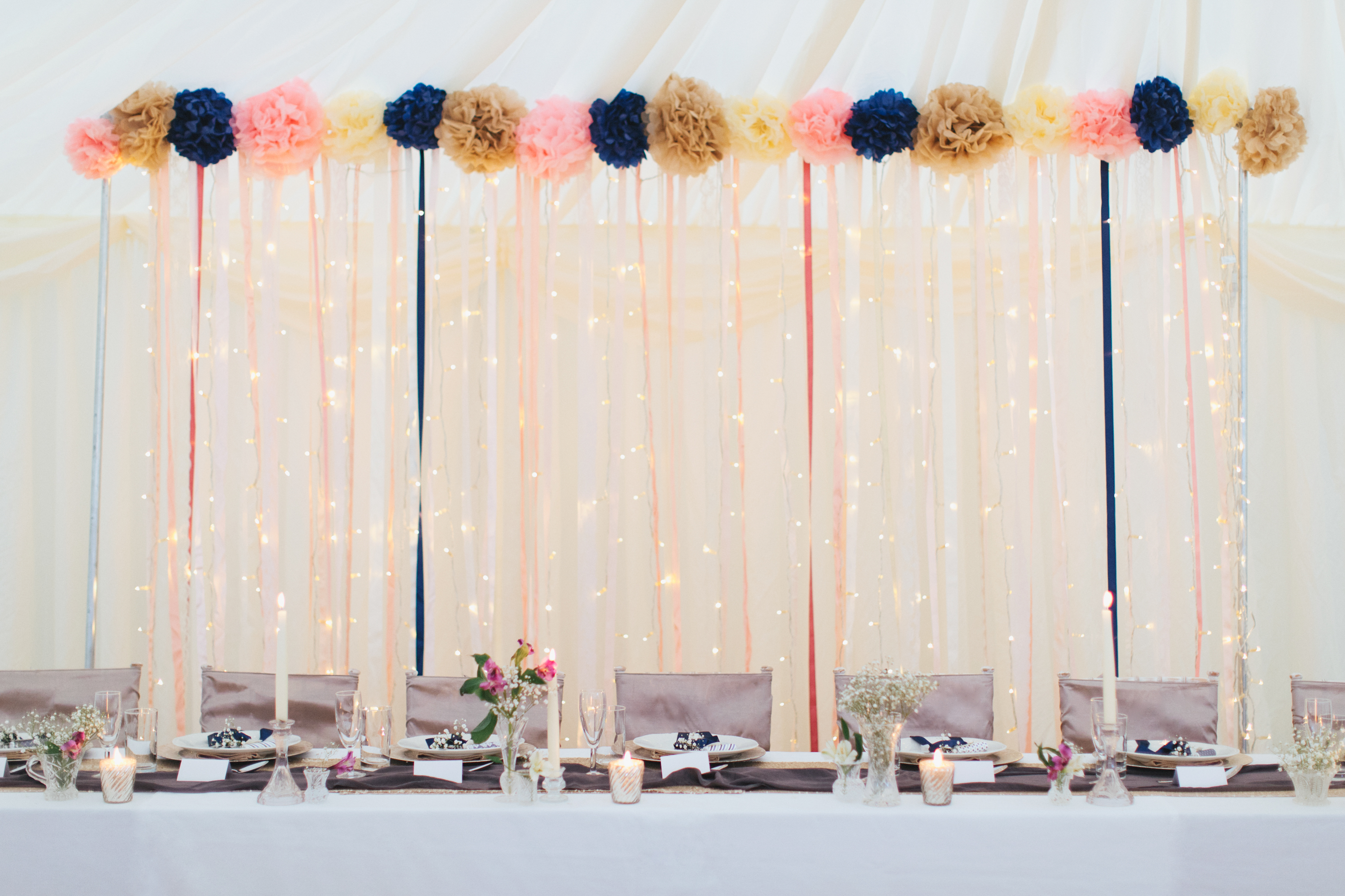 Lighting and Ribbon backdrop