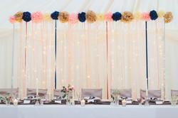 Lighting and Ribbon backdrop
