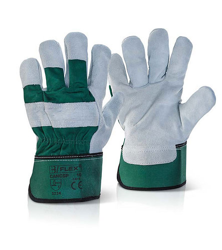 Hand Protection -Double Palm Heavy Duty Rigger Glo