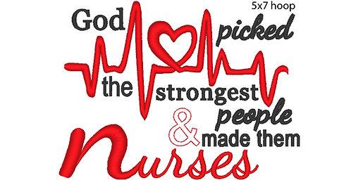 Nurses Embroidery Design - 4x4, 5x7, 6x10