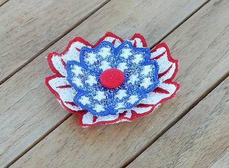 4th of July FSL flower for Mermorial Headband or Memorial Brooch 4x4 5x7