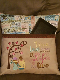 True Love means planning a life for two with lovers - reading pillow saying 5x7