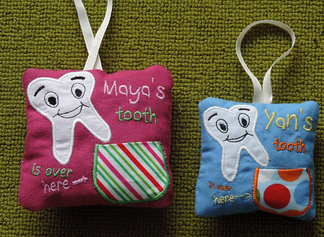 ITH Tooth Fairy Pillow - In The Hoop 4x4 5x7