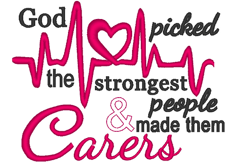 Carers, Caregivers Embroidery Design 4x4, 5x7, 6x10