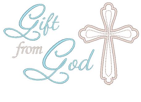 Gift From God, Baptism Cross, Catholic Design for Newborn Baby