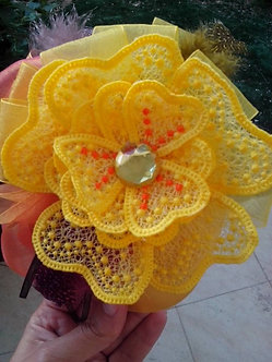 FSL Flower, Free Standing Lace flower 3Dwith step by step instructions 4x4