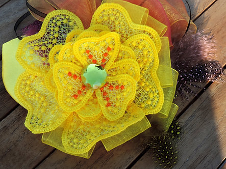 FSL Flower, Free Standing Lace flower 3Dwith step by step instructions 5x7