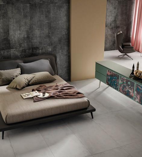 Diesel Living White Scratch Concrete Til