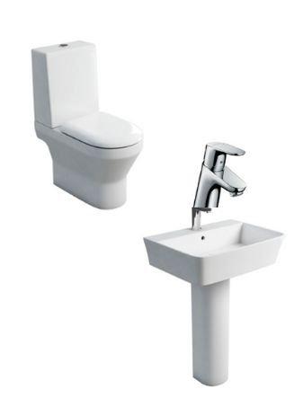 Curve Ceramic Toilet Set