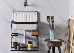 Alape Steel White Bucket Sink for Small Bathroom