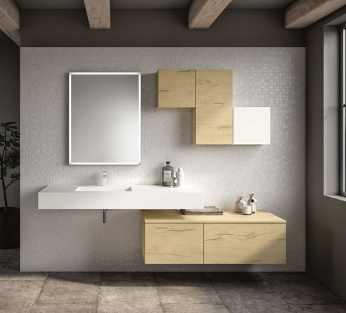 Moon White Tecnolite Vanity Unit