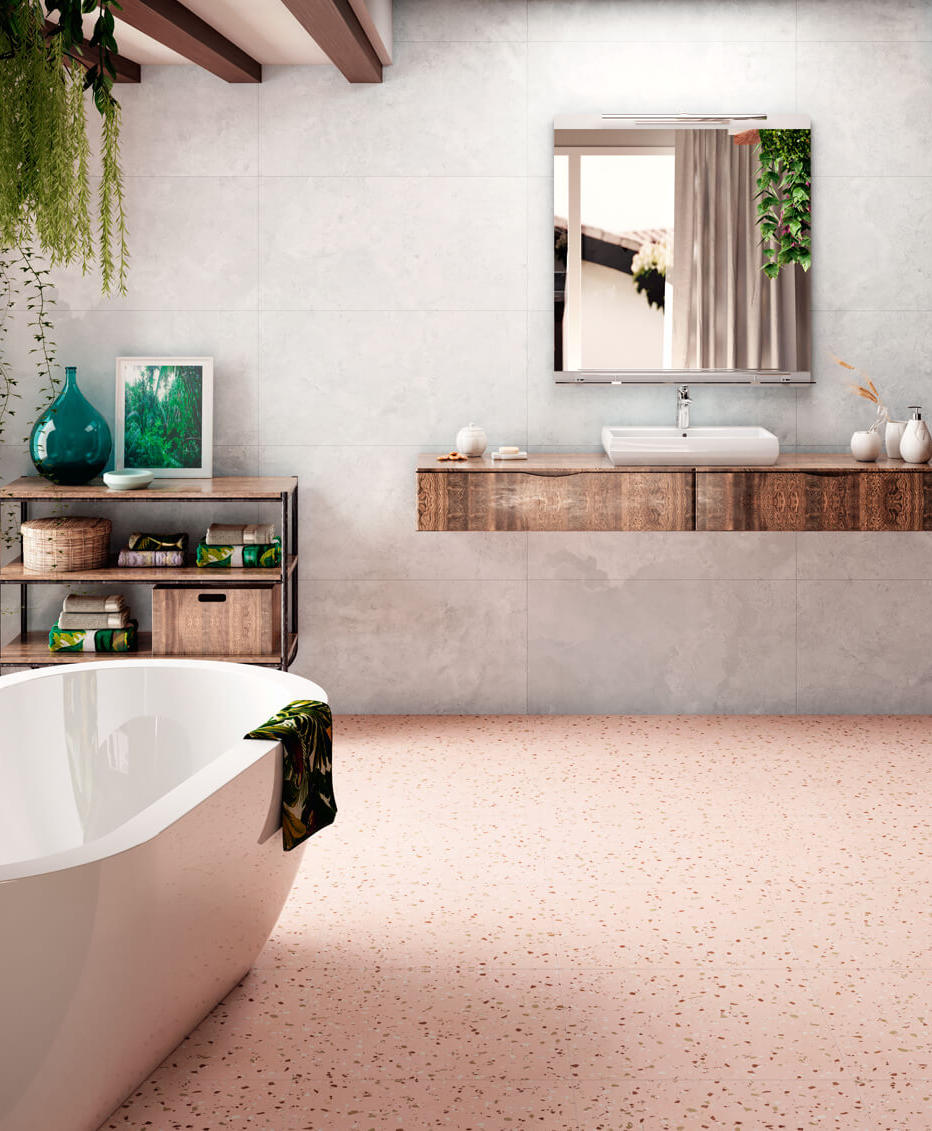 South Pink Terrazzo Style Tile